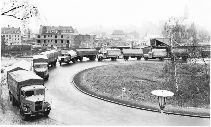Der Fuhrpark der Firma H. Sack 1955