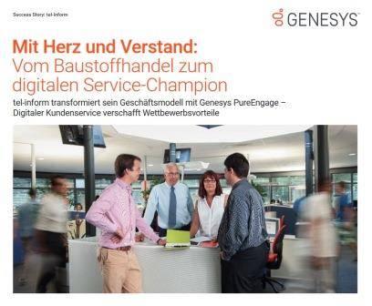 Deckblatt zum Genesys Case bei tel-inform